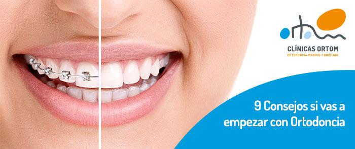 Consejos al empezar con ortodoncia